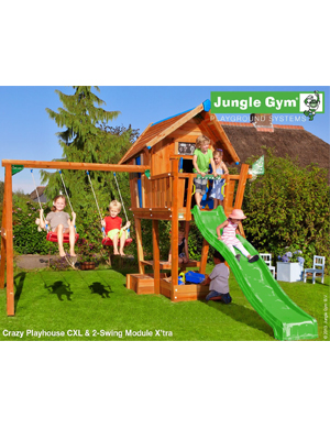 Детский городок Jungle Gym Crazy Playhouse CXL + 2-Swing X'tra