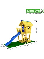 Детский городок Jungle Gym Crazy Playhouse CXL + SwingModule Xtra