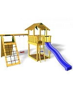 Детский городок Jungle Gym Chalet + ClimbModule Xtra