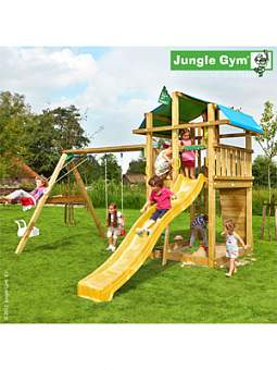 Детский городок Jungle Gym Fort + SwingModule Xtra
