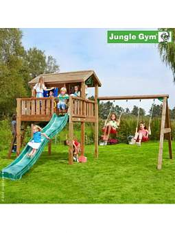 Детский городок Jungle Gym Playhouse XL + SwingModule Xtra