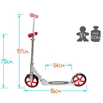 Самокат А5 Lux Scooter Razor, синий. Фото �7
